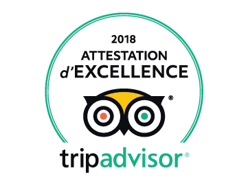 Attestation d'excellence 2018 tripadvisor