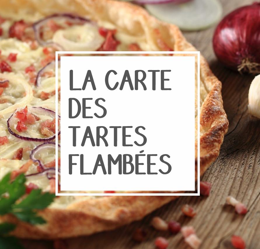Carte des tartes flambées de l'Auberge du Hirtz